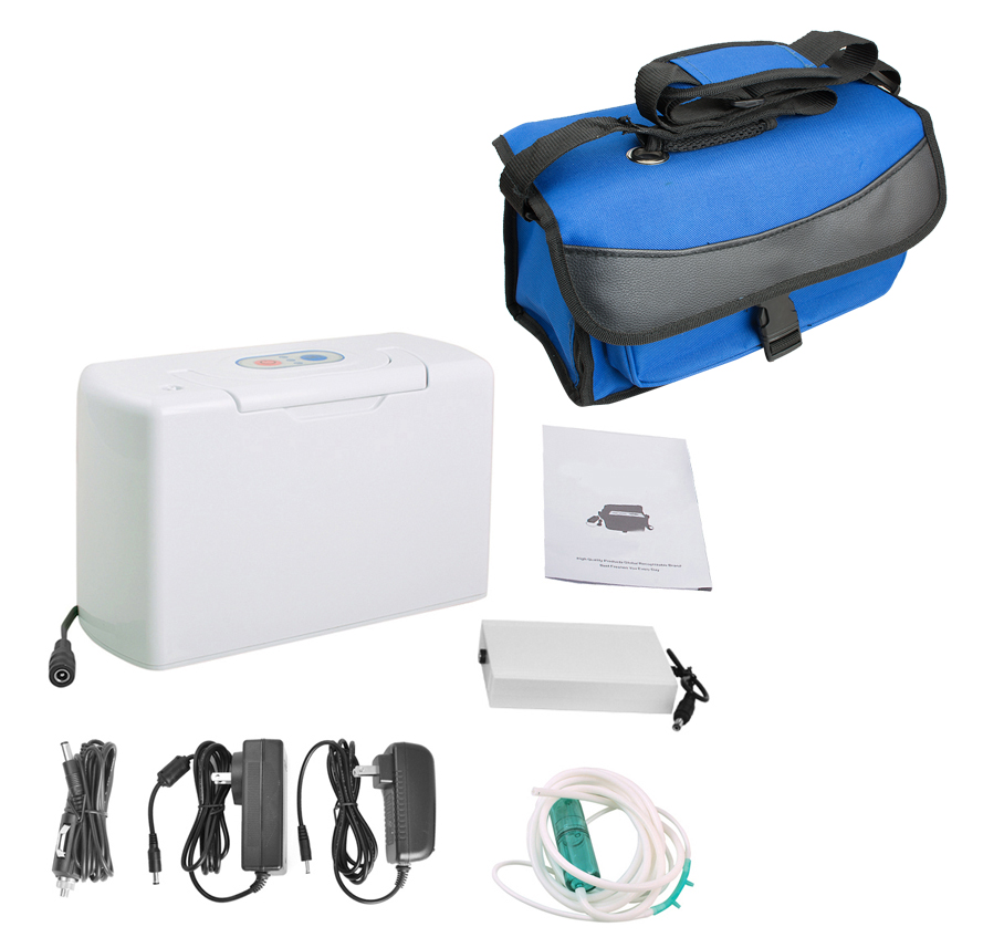 Portable Oxygen Concentrator,Genuine Portable Oxygen Concentrator home travel with car recharger with carry bag oxygen winner w130