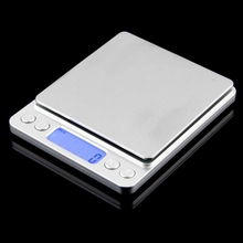 цена на Electronic Kitchen Scales Digital Food Scale Stainless Steel High Precision Household 2kg 0.1g Platform Weighing LCD Measuring