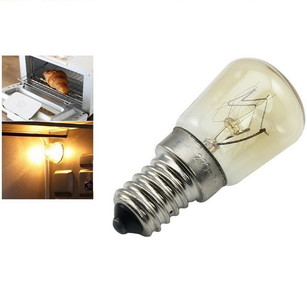 Oven Steam Bulb Lamp E14-25w High Temperature 300 C Bread Machine Yellow Tungsten Light Bulb AC220-240V