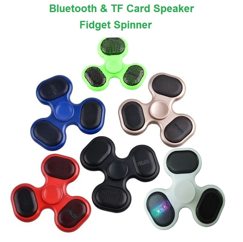 JOYTOP LED Bluetooth Speaker Fidget Gyro TF Card Music Fingertip Anti Stress Relief Kids Adults Toy Gifts Charging Hand Spinner new e zinc alloy cube hand spinner toys edc fidget cube spinner for autism and adhd anxiety stress kids adults gifts toupie anti