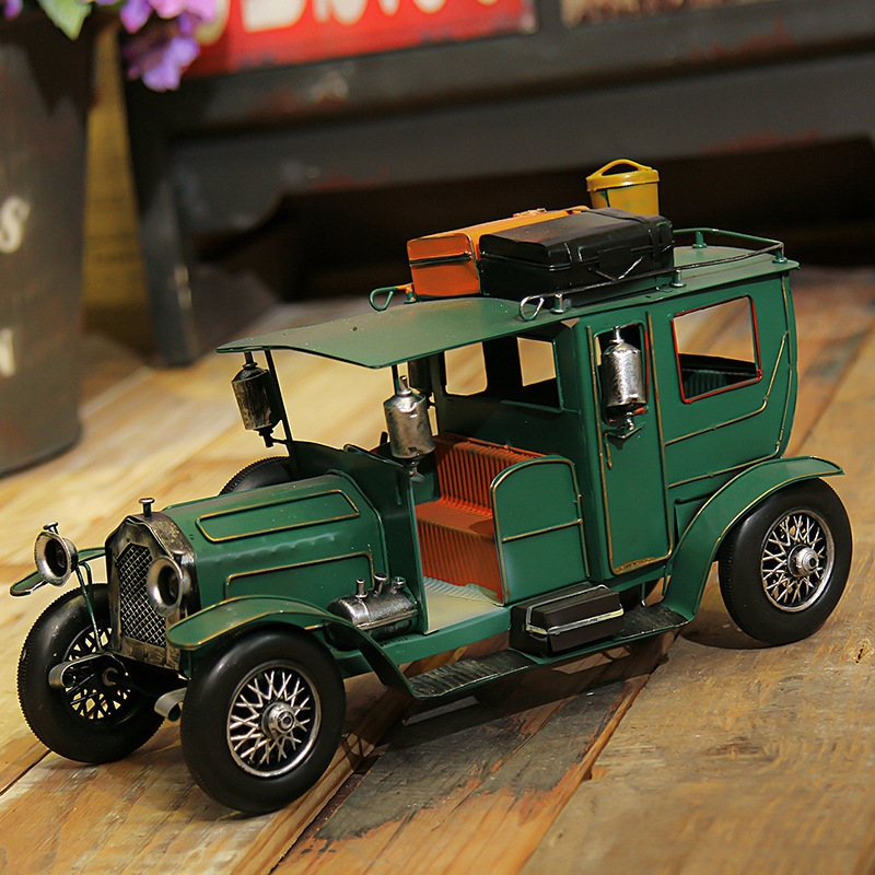 Vintage Crafts Ornaments Classic Car Model Creative Iron Home Porch Decorations Room Decorations Desktop Ornaments ...