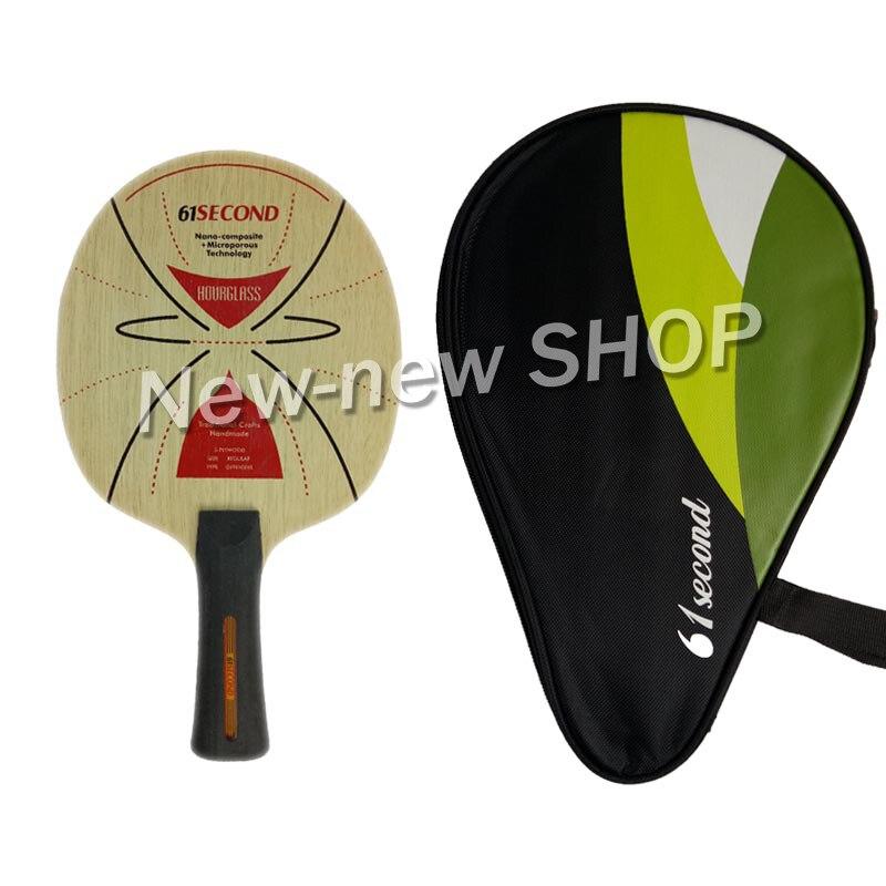 61 deuxième SABLIER Tennis De Table Lame de Ping-Pong Paddle Raquette Bat avec une livraison de cas complète