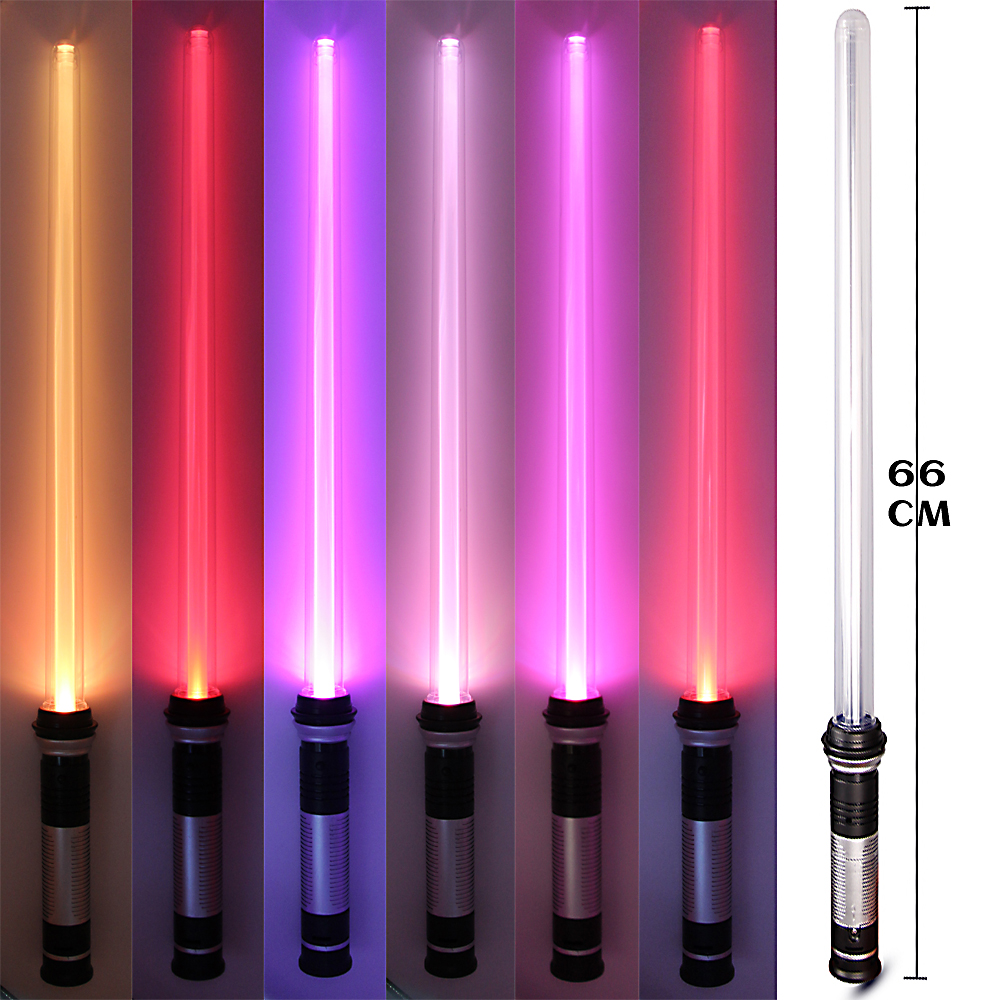 1PCS Lightsaber Star Wars Laser Sword Luminous Music Children's Outdoor Gift Cosplay Boy Gril Colorful Flashing Sword Toys цена