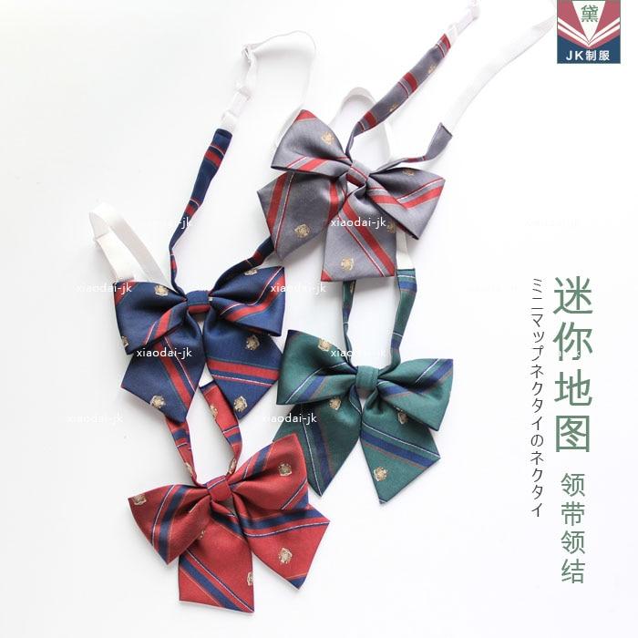 Bekleidung Zubehör Palace Crown Gestreiften Muster Britischen Japanischen Schule Mädchen Jk Uniform Fliege Studenten Krawatte Cosplay 4 Farben Zahlreich In Vielfalt Damen-accessoires