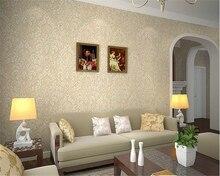 beibehang European classic Damascus relief simple three-dimensional environmentally friendly nonwoven papel de parede wallpaper