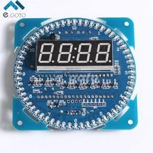 DS1302 Вращающийся СВЕТОДИОДНЫЙ Дисплей Сигнализации Электронные Часы Модуль СВЕТОДИОДНЫЙ Дисплей Температуры