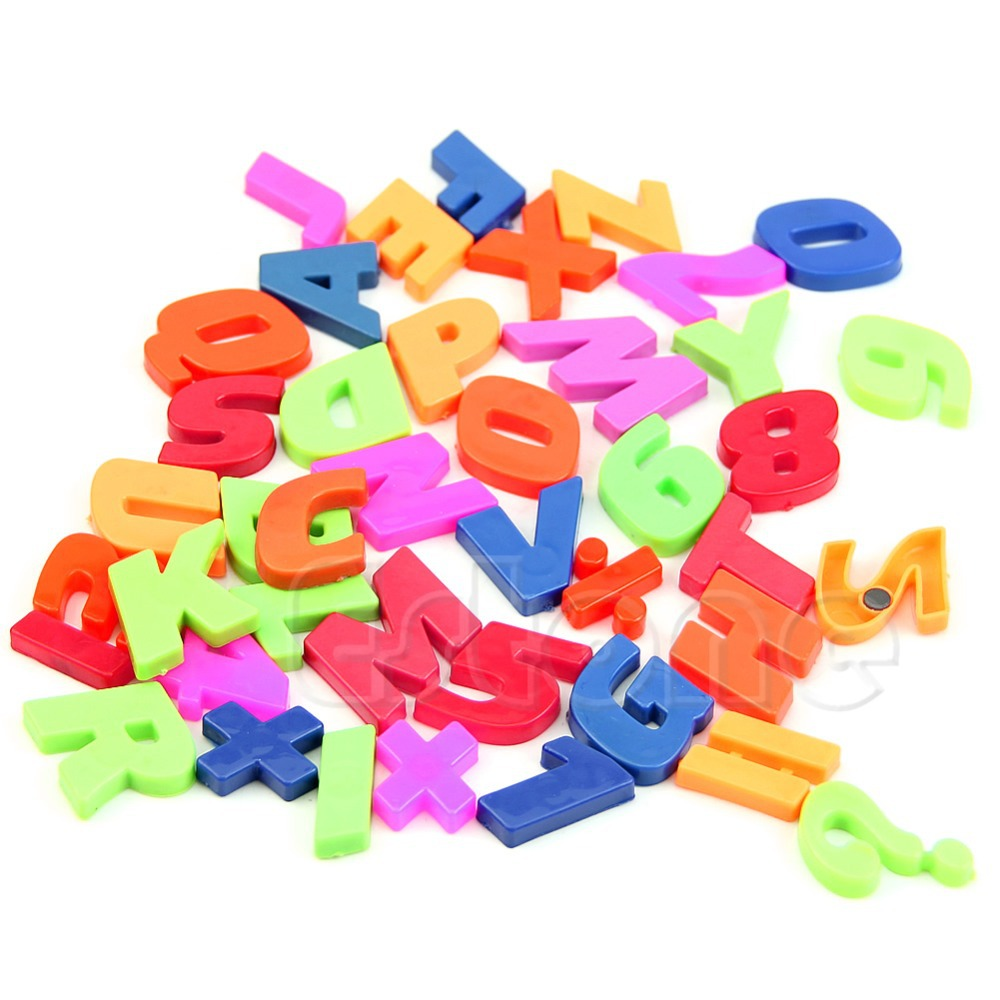 set of 52pcs colorful magnetic fridge letters numbers teaching magnets alphabet