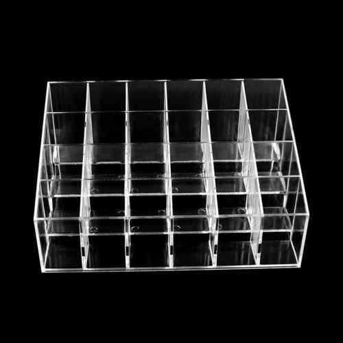 Limit 100 Acrylic 24 Lipstick Holder Display Cosmetic Organizer Container Makeup Case Storage Racks Closet Organizer Space Saver