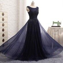 Echt Fotos Marineblau Abendkleider Vestido De Festa Scoop Sleeveless Vintage Spitze Appliques Perlen Afrikanischen Prom Kleider