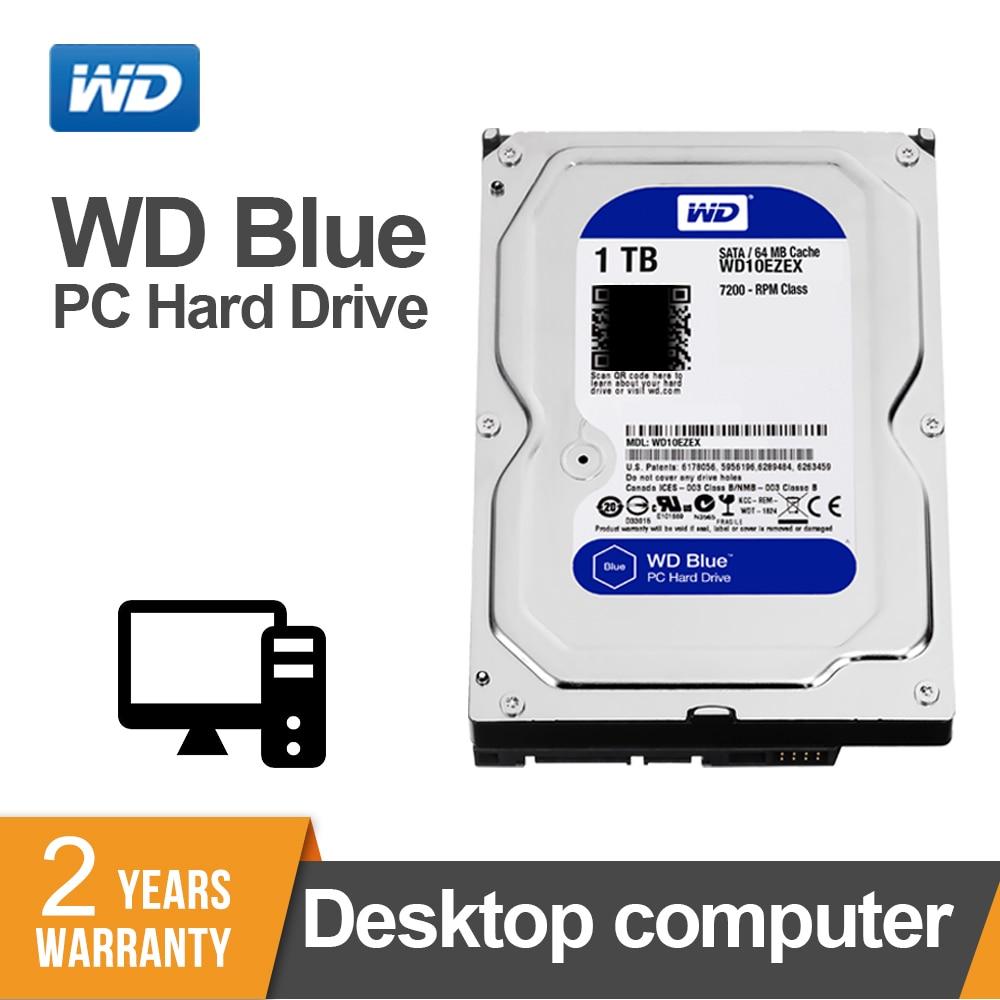 1 to WD Blue 3.5 SATA 6 GB/s HDD sata disque dur interne 64M 7200PPM disque dur de bureau hdd pour PC WD10EZEX