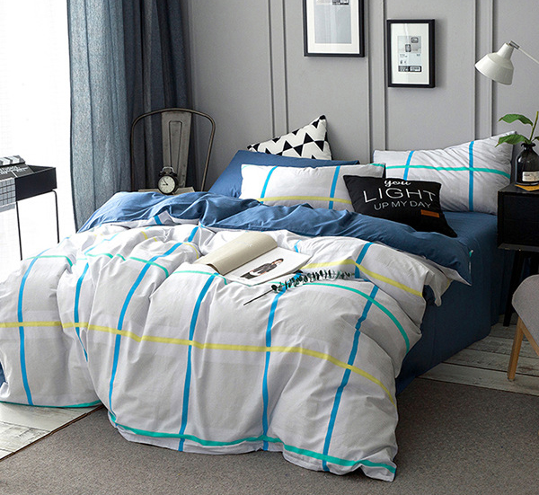 4pcs bedding full queen king size duvet cover flat sheet or fitted sheet pillowcases bed lining. Black Bedroom Furniture Sets. Home Design Ideas