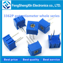 10pcs/lot New 3362P potentiometer  103 10k  1K 2K 5K 50K 100K 200K 500K 1M Trimpot Trimmer Potentiometer Variable resistor original new 100% 068306 500k aud import single potentiometer 500k handle long 16mm round shaft switch