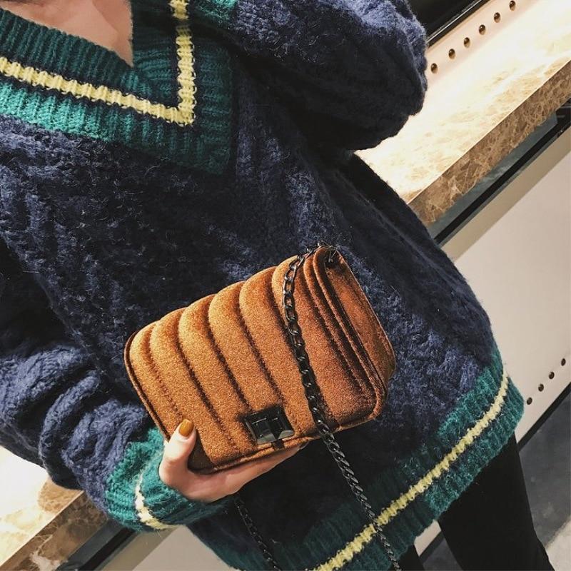 Лидер продаж Женская Мода Pleuche цепи В виде ракушки пакет цепи мешок пряжки мило мешок плеча Для женщин Сумки Новый Дизайн Популярные Стиль
