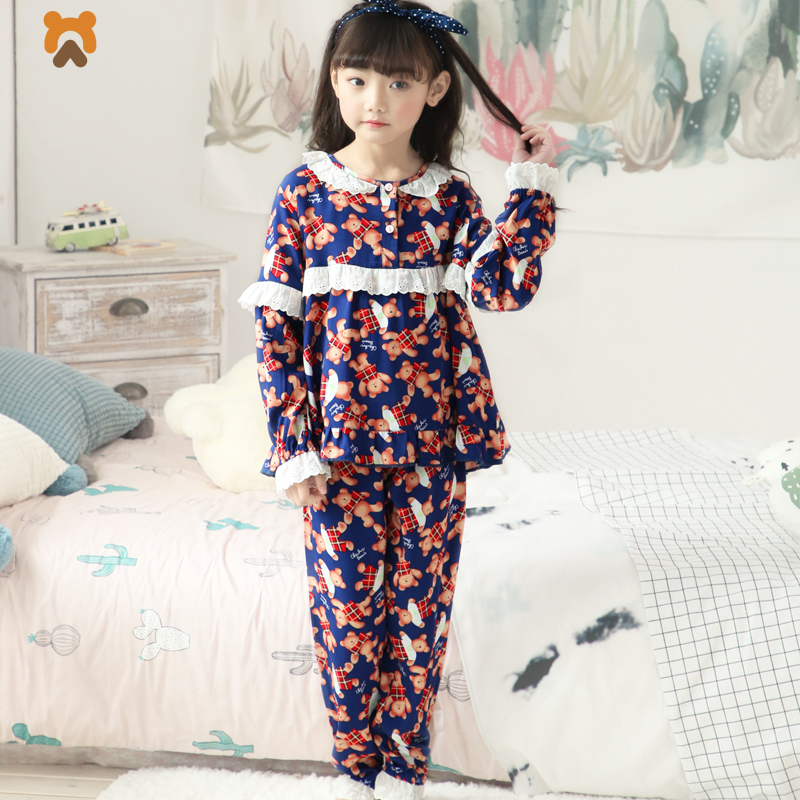 2018 Girls Pajamas Sets Summer Long Sleeve Cartoon Girl Pajamas Tops Bottoms Casual Children Pyjamas Sleepwear Clothes For Kids 2018 kids pajamas sets baby girl and boys clothes teenage girls pajamas suits long sleeve tops and pants 2 pieces clothing sets