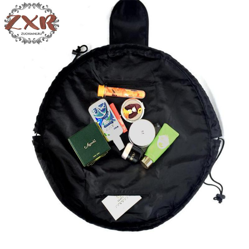 Women Drawstring Cosmetic Bag Fashion Travel Makeup Bag Organizer Make Up Case Storage Pouch Toiletry Cosmetic Bags & Cases