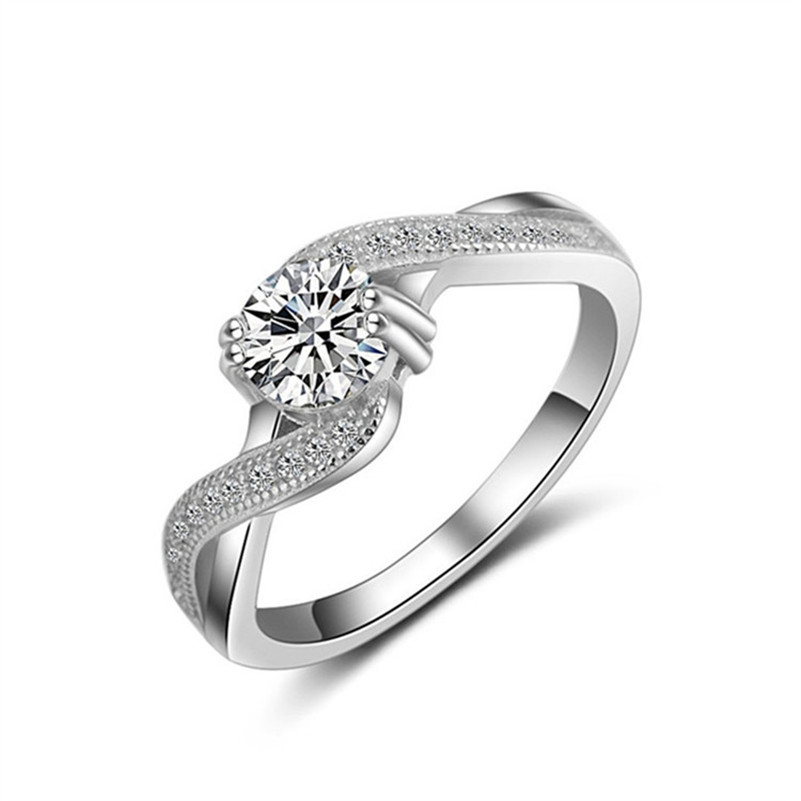S925 Sterling Silver Luxury Fine Jewelry Bridal Wedding Rings For Women Engagement Unique Ring Drop Shipping Anelli Donna