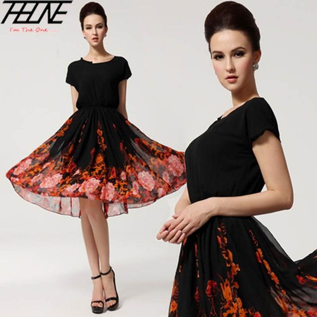 Купить шифоновое платье до колена