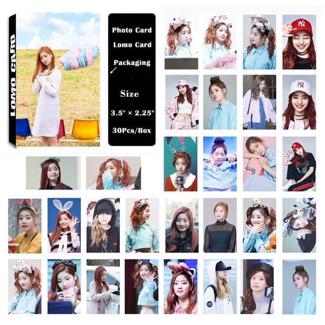 US $2 24 25% OFF|YANZIXG KPOP TWICE Album Kim DaHyun Self Made Paper Lomo  Card Photo Card Poster HD Photocard-in Jewelry Findings & Components from