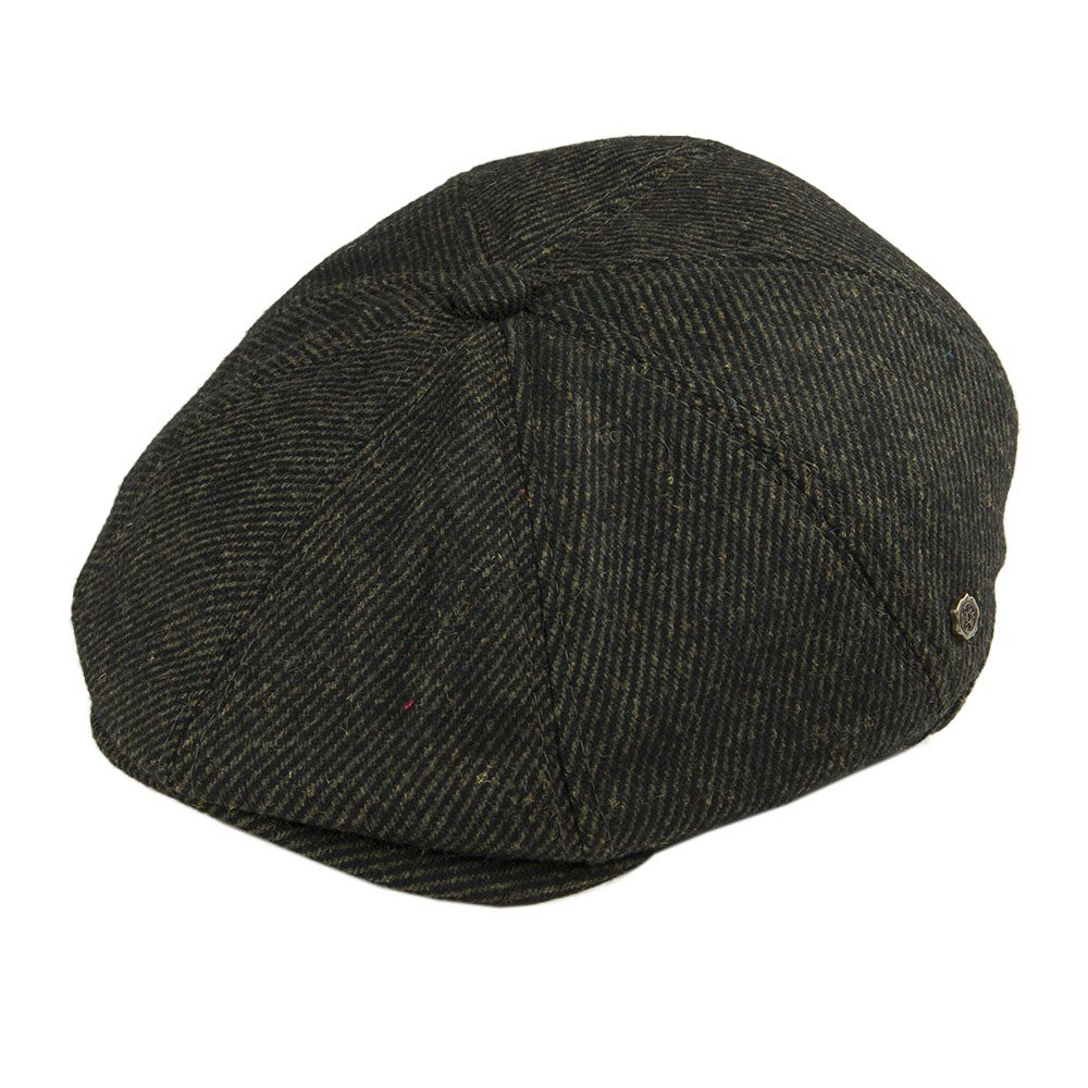 VOBOOM Green Wool Blend Twill Newsboy Caps Men