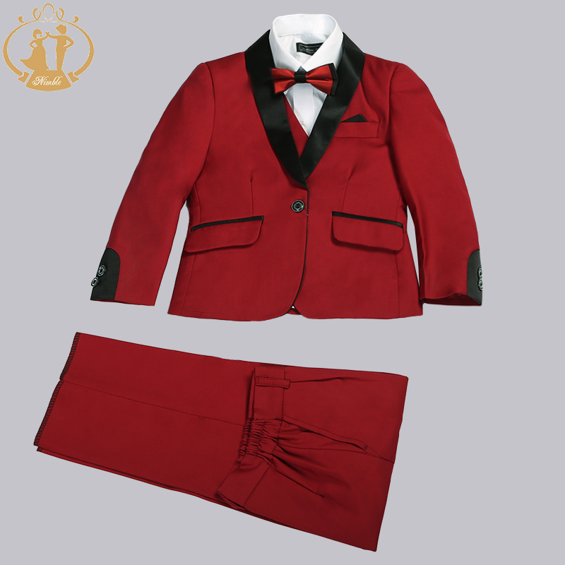 Nimble Boys Suits for Bryllup Kostyme Enfant Garcon Mariage Suit for Gutt Barn Bryllup Suit Blazer Boys Prom Suits 3 stk / sett