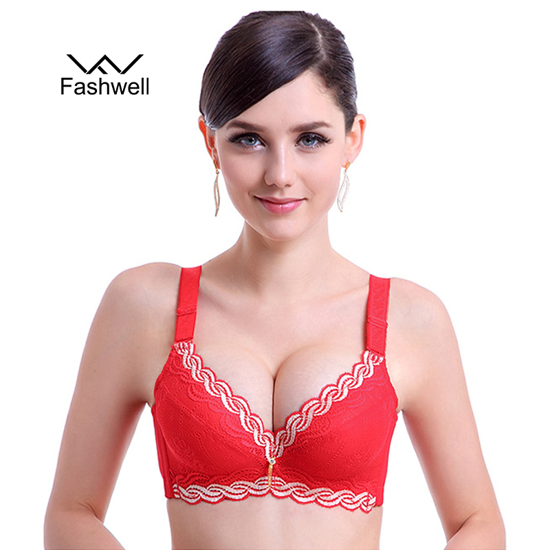 Fashwell Women Sexy Push Up Bra minimizer deep vs 5cm thick Padded Brassiere Women's Lace Bras