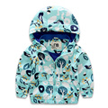 2017 Hot Children Rain Boy Coat Hooded Jacket Boys Print Windproof Kids Jacket Fashion Boys Coat Trench