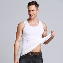 2019 Men Summer Round Neck Modal Fabric Slim Fit Fitness Vest