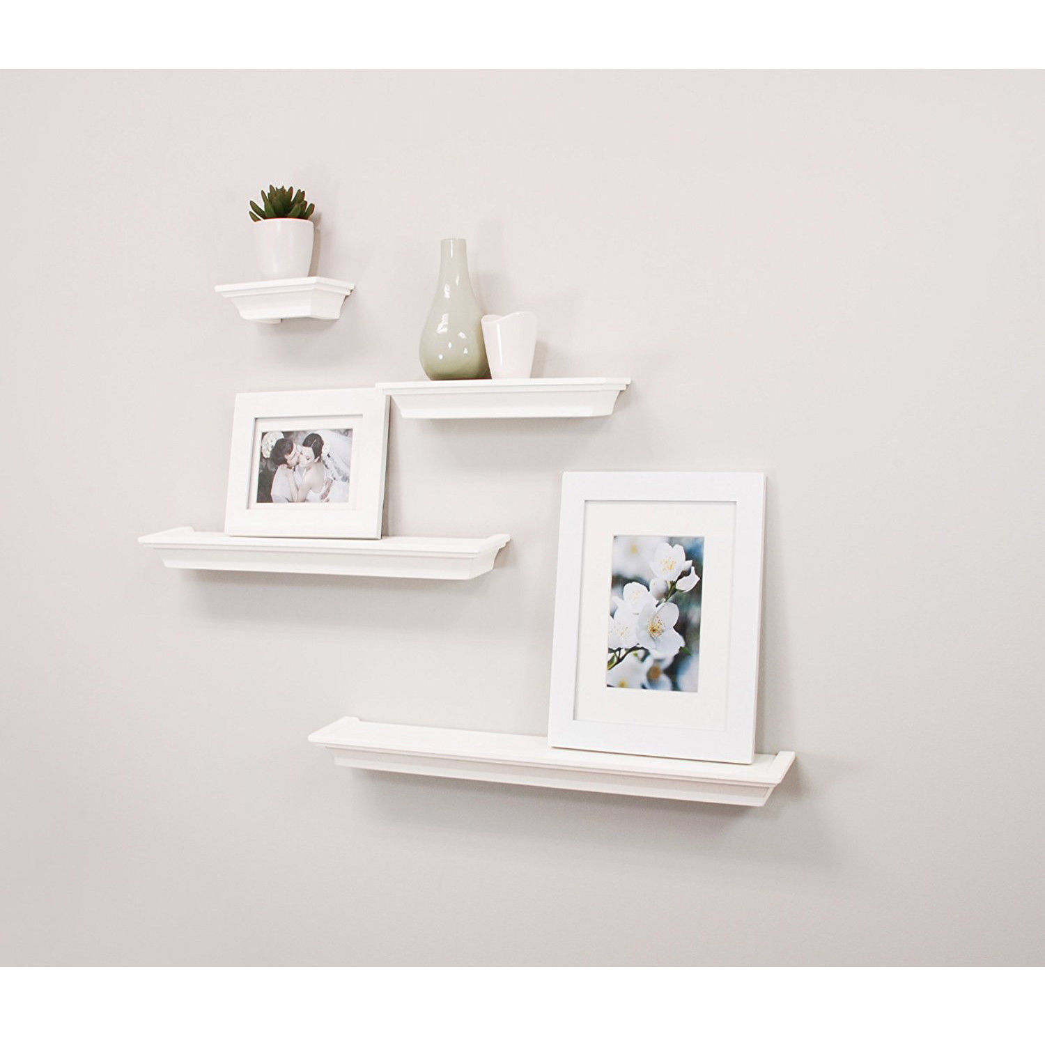 Us 26 79 4 Set Wall Mount Shelf Floating Display Home Decor Shelves Furniture White In Storage Holders Racks From Home Garden On Aliexpress
