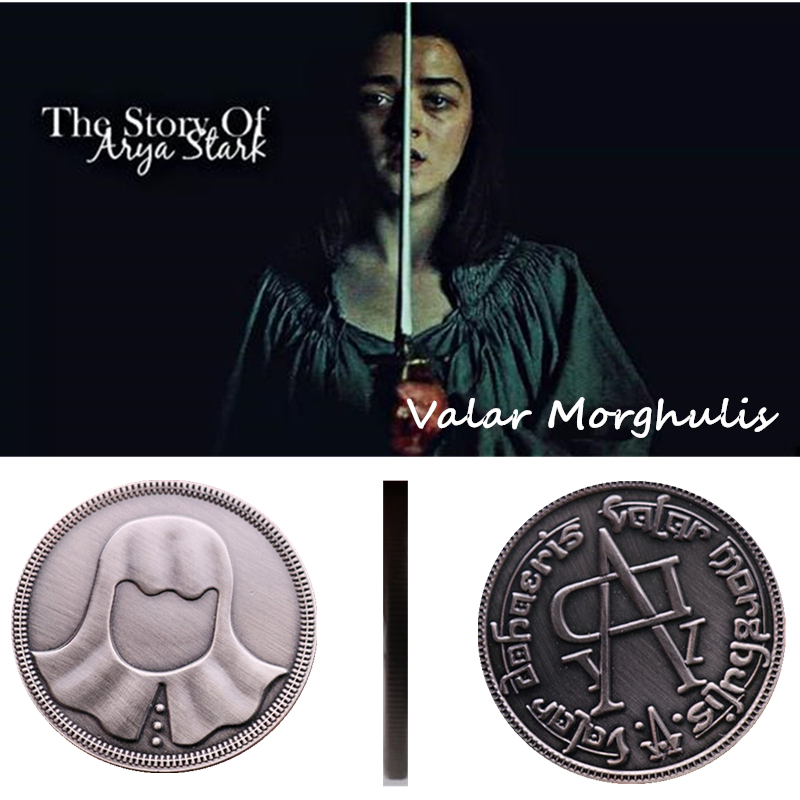 Halloween A Song Of Ice And Fire Game Of Thrones Faceless Coin Valar Morghulis Jaqen H'ghar Badge 1:1 Christmas Gift