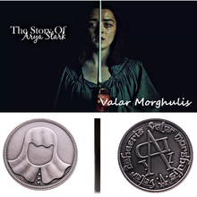 Halloween A Song of Ice and Fire Game Thrones Faceless Coin Valar morghulis Jaqen Hghar Badge 1:1 Christmas Gift