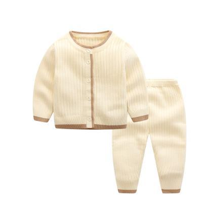 2018 spring and autumn sweater suit, newborn cardigan jacket, baby knitwear.