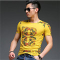 2015 new spring and summer fashion brand for men classical art printing T-shirt men short sleeve T shirt luxury direct transport