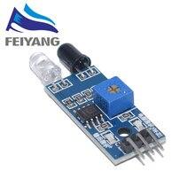 10 шт. умный автомобиль робот светоотражающий фотоэлектрический 3pin ИК инфракрасный избегание препятствий сенсор модуль для arduino Diy Kit