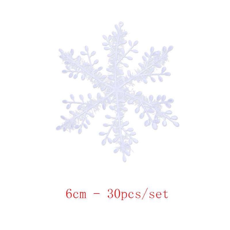 30 шт./компл. 6 см новогодняя елка вечерние пластиковые декоративные снежинки спальня диван новогодние вечерние шутки игрушки для детей
