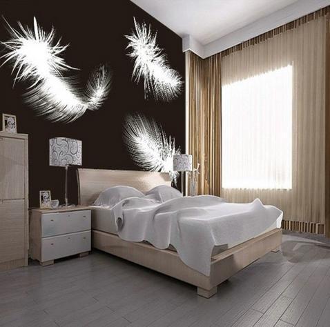 zwart slaapkamer behang-koop goedkope zwart slaapkamer behang, Deco ideeën
