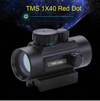 Dual use Day and Night Vision 1x40 Red Dot Green Illuminated Hunting Sight Scope 11mm & 20mm Weaver Rail