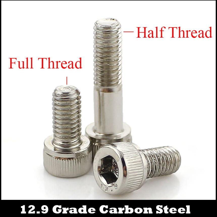 M3 M3*45 M3x45 M3*50 M3x50 12.9 Grade Nickel Plated Carbon Steel DIN912 Half Thread Cap Cup Allen Head Bolt Socket Hexagon Screw цена 2017