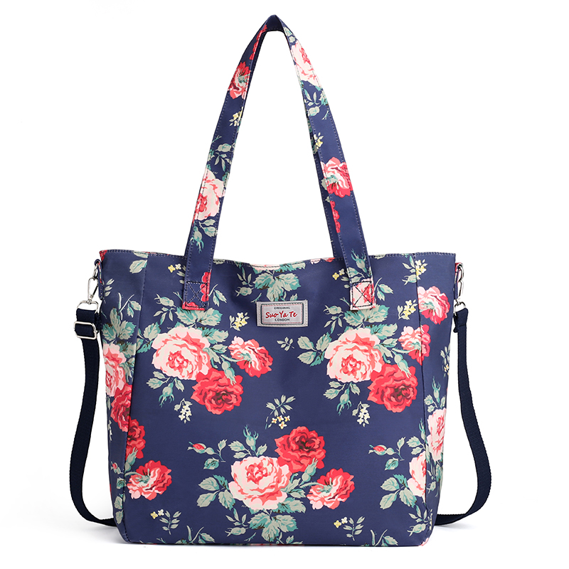 2019 Fashion Women Handbag Big Size Tote Ladies Casual Flower Printing Nylon Shoulder Messenger Bag Beach Bolsa Feminina