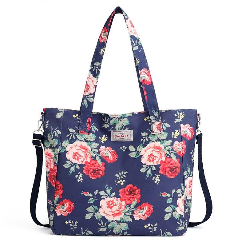 C, Free Size LYN Star Womens Casual Mini Wrist Purse Flower Printing Zipper Sport Handbag