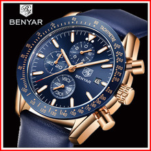 BENYAR 2019 New Men Watch Business Full Steel Quartz Top Brand Luxury Casual Waterproof Sports Male Wristwatch Relogio Masculino