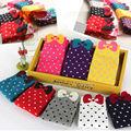 2016 moda de nueva invierno caliente lindo del color del caramelo de punto de alta calidad 3d algodón Calcetín de Las Mujeres