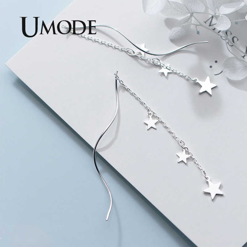 Umode Echte Ster Oorbellen Sterling Zilver 925 Wedding Drop Oorbellen Voor Vrouwen S925 Eenvoudige Fijne Sieraden Luxe Merk ULE0562