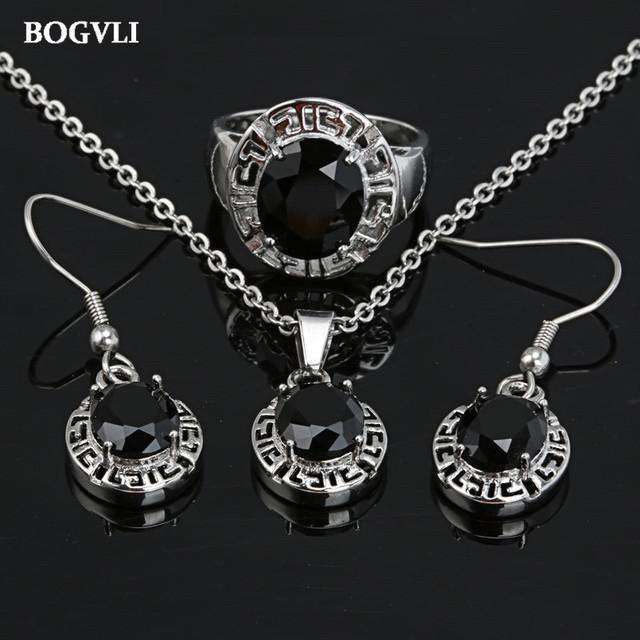 2016 sistemas de la joyería nupcial de cristal de acero Inoxidable de la manera con las mujeres collar y pendientes establecidas