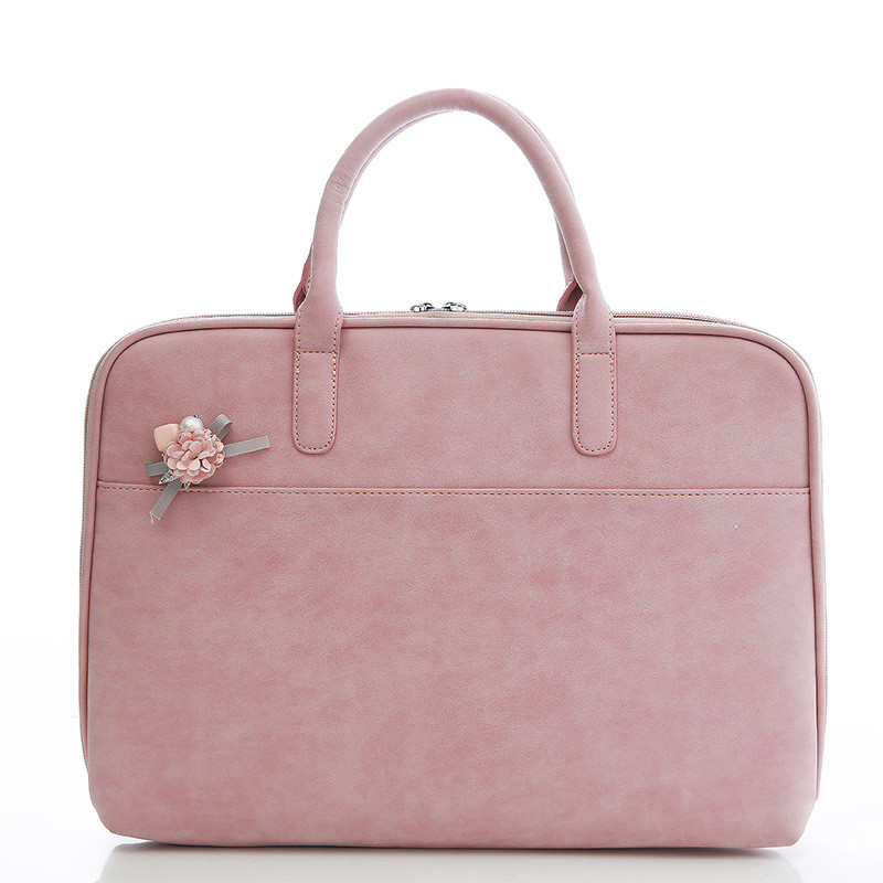 Laptop Handbag 11.6 12 13.3 14 15.4 Inch Korean Style PU Leather Messenger Bag Women Fashion Briefcase for Macbook Air Pro HP hot handbag for laptop 14 for macbook air pro 13 3 13 14 1 lady notebook bag women messenger purse free drop ship 0084s414