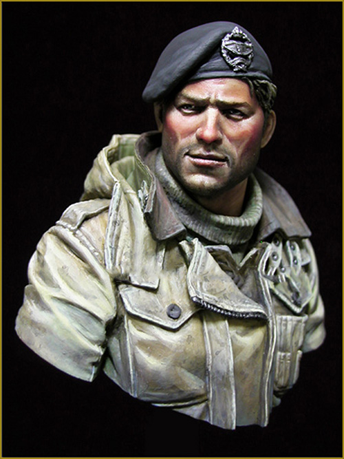 Assembly Unpainted <font><b>Scale</b></font> <font><b>1/10</b></font> British Tank Crew officer <font><b>bust</b></font> Historical toy Resin Model Miniature Kit image