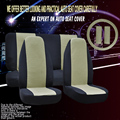 Car Styling with Car Seat Covers Universal Bucket Covers Steering Wheel  and Seat Belt Cover