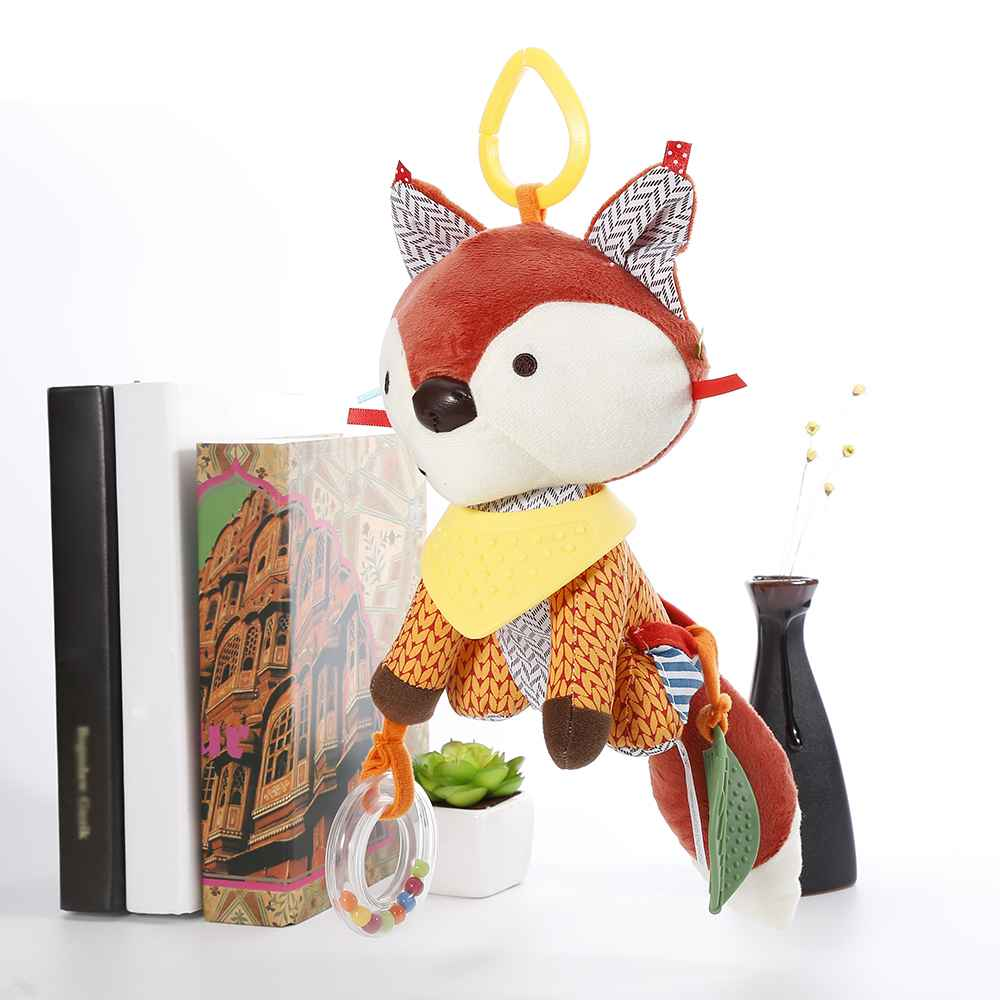 for kid Newborn Bed Hanging Doll Plush Stroller Toy Baby Infant Toy Lovely Fox Hot Sale