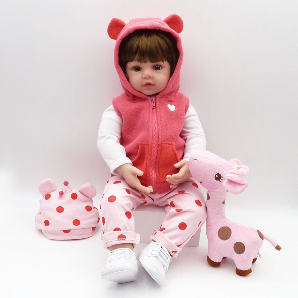 NPK 55cm Silicone Reborn Doll Fashion Baby Dolls Princess Girls Children Birthday Gift Kids Toy M09