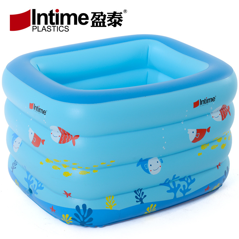 Intime 120cm inflatable swimming pool baby bathtub for Swimming pool 120 cm tief
