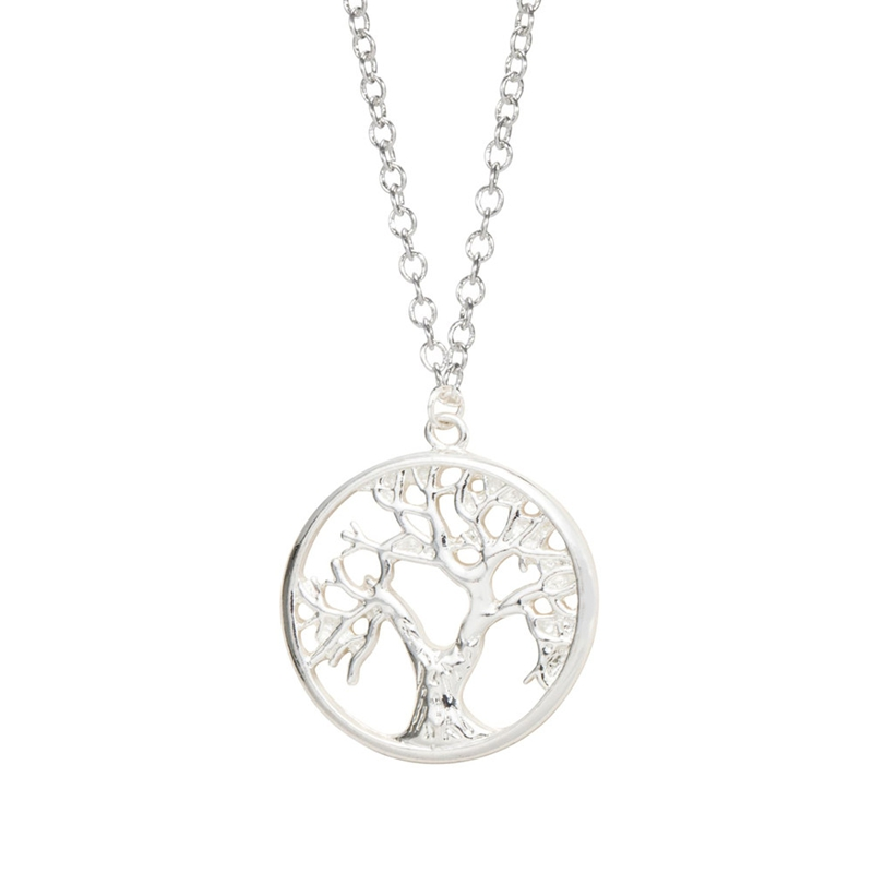 Women's Sterling Silver Tree Of Life Jewellery Set In A Gift Box 80vigp